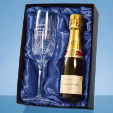 Blenheim Crystal Panel Champagne Flute & Champagne Set