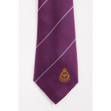 Woven Polyester Striped Crest Design