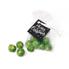 Organza Bag with Chocolate Sprouts