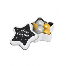 Star Tin with Foiled Chocolate